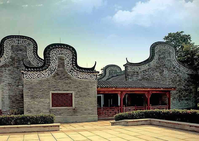 Traditional Architecture Huo Er Wu in Lingnan Area (Guangdong and Guangxi Provinces in Southern China)