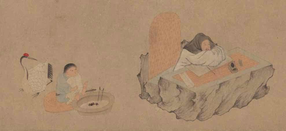Part of Painting (Xi Hu Yin Qu Tu), by Artist Qian Xuan of the Yuan Dynasty — The Palace Museum