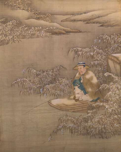 Yongzheng Emperor Cosplaying An Ordinary Fisherman.