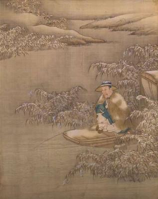 Yongzheng Emperor Cosplaying An Ordinary Fisherman.
