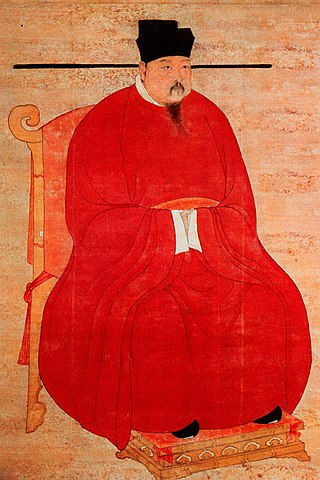 Portrait of Zhao Heng the Emperor Zhenzong of Song, by Court Artist