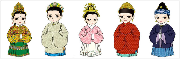 Different Hairstyle and Costumes of Married Civilian Women of the Ming Dynasty (1368 — 1644)