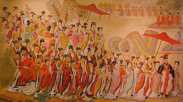 Emperor Yang of Sui and His Officials and Queen