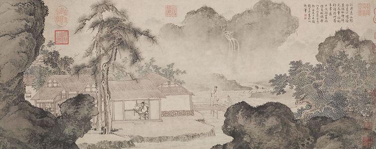 "Tang Yin's Painting ""Shi Ming Tu"" that Describes Scholars Tasting Tea"