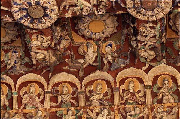 Musical Instruments in the 12th Cave, Photo from Official Site of Yungang Grottoes.