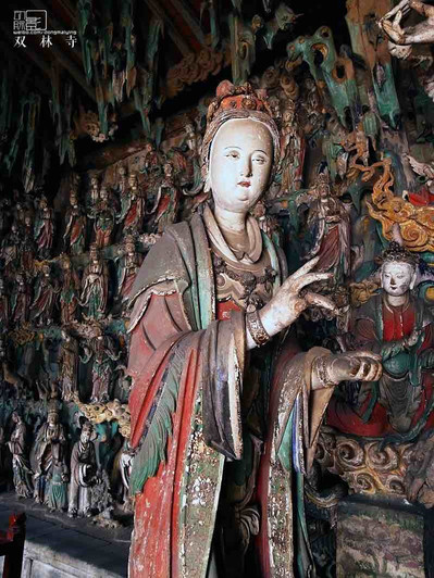 Extraordinary Painted Sculptures in Shuanglin Temple of Pingyao