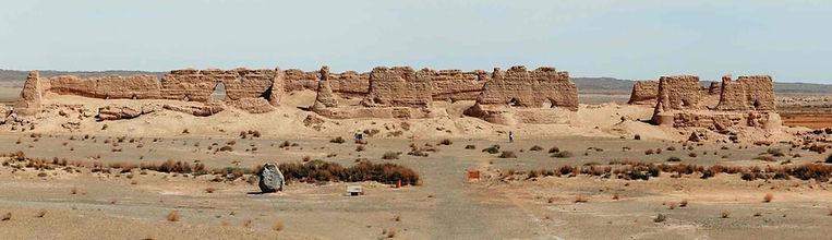 Remains of Hecang City or Dafangpan City in Dunhuang