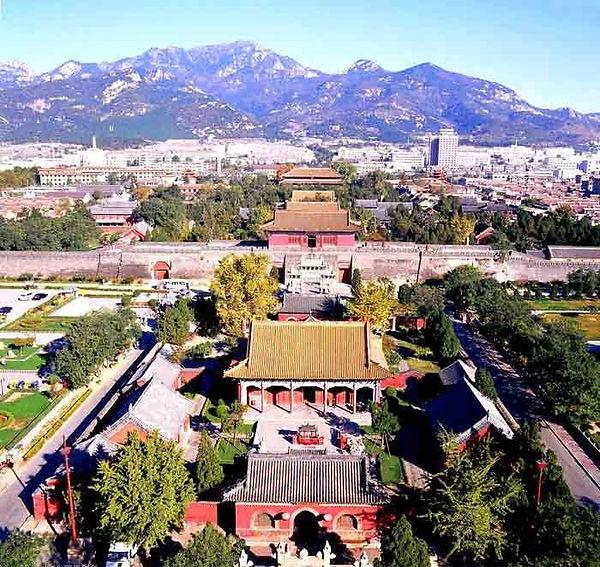 Dai Temple at the foot of Mount Tai