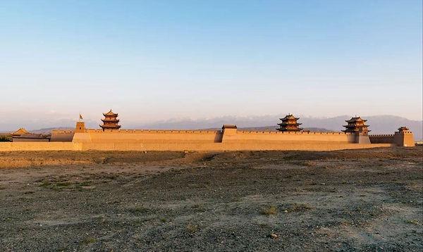 The Jiayuguan of Ming Great Wall in Gansu