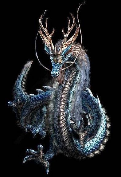 Mythical animal dragon Pan Long