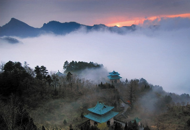 Peaks and Seas of Clouds of Wudang Mountains
