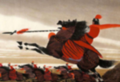Excellent marshal of Han Dynasty Huo Qubing and his army in battlefiled