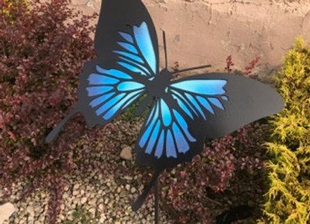 Blue Swallowtail Garden Stake