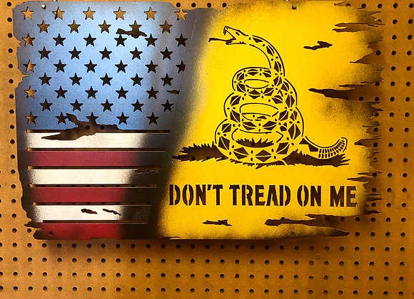 Battle Worn U.S./Gadsden Flag