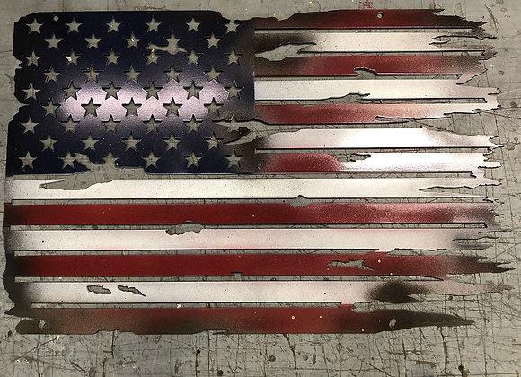 Battle Worn U.S. Flag