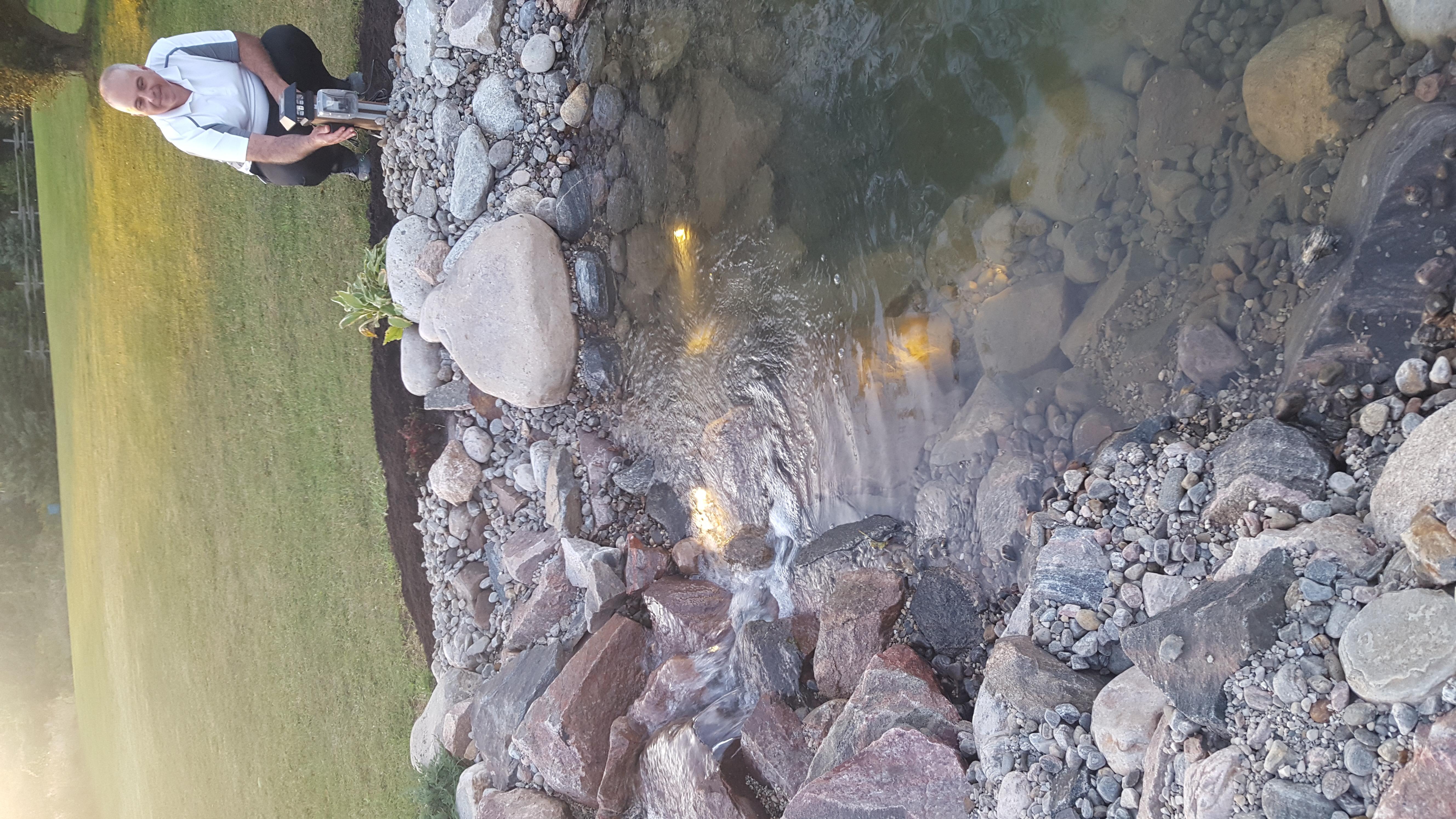 Swim Pond - Waterfall lights