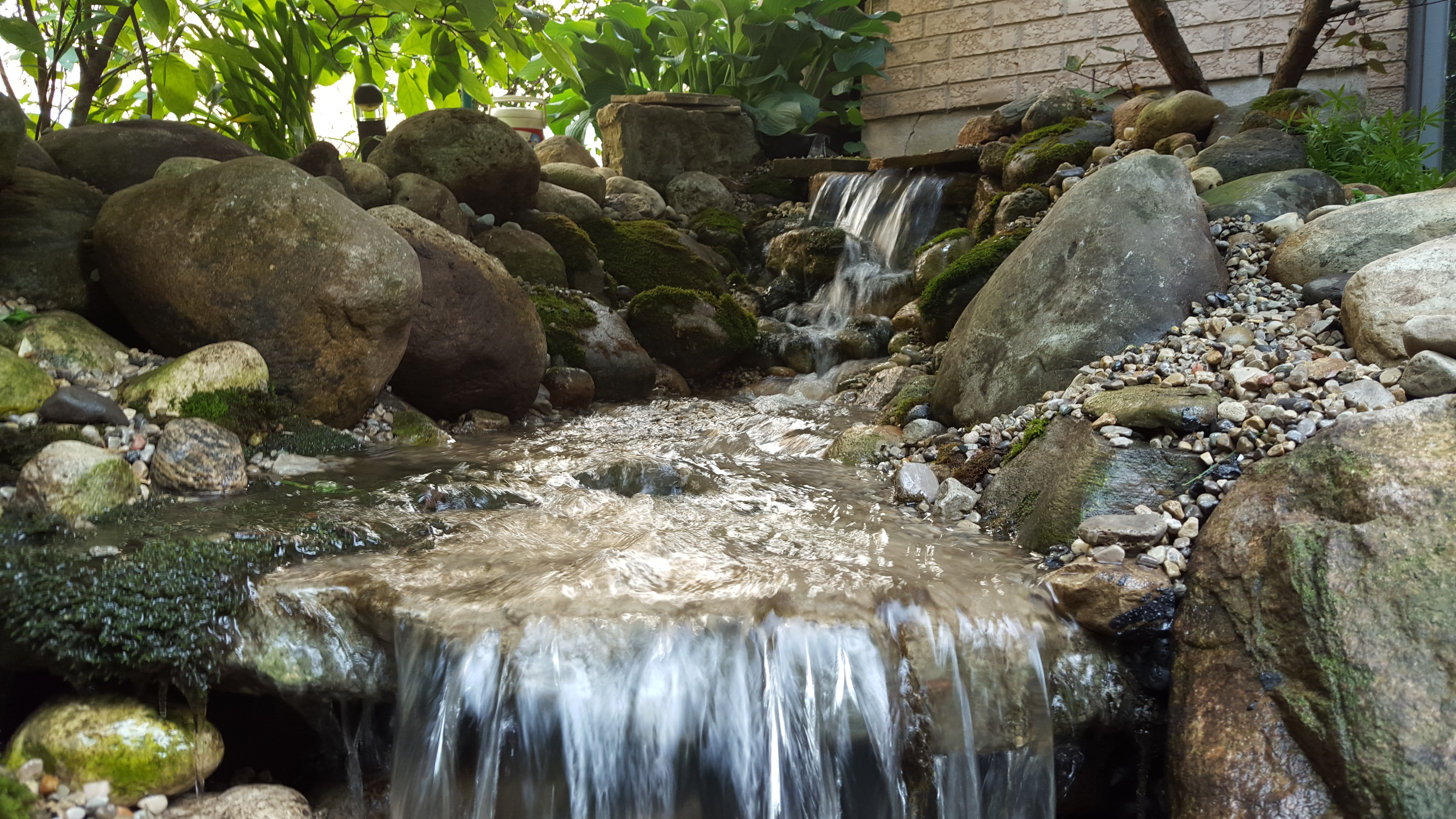 waterfall and stream rebuild