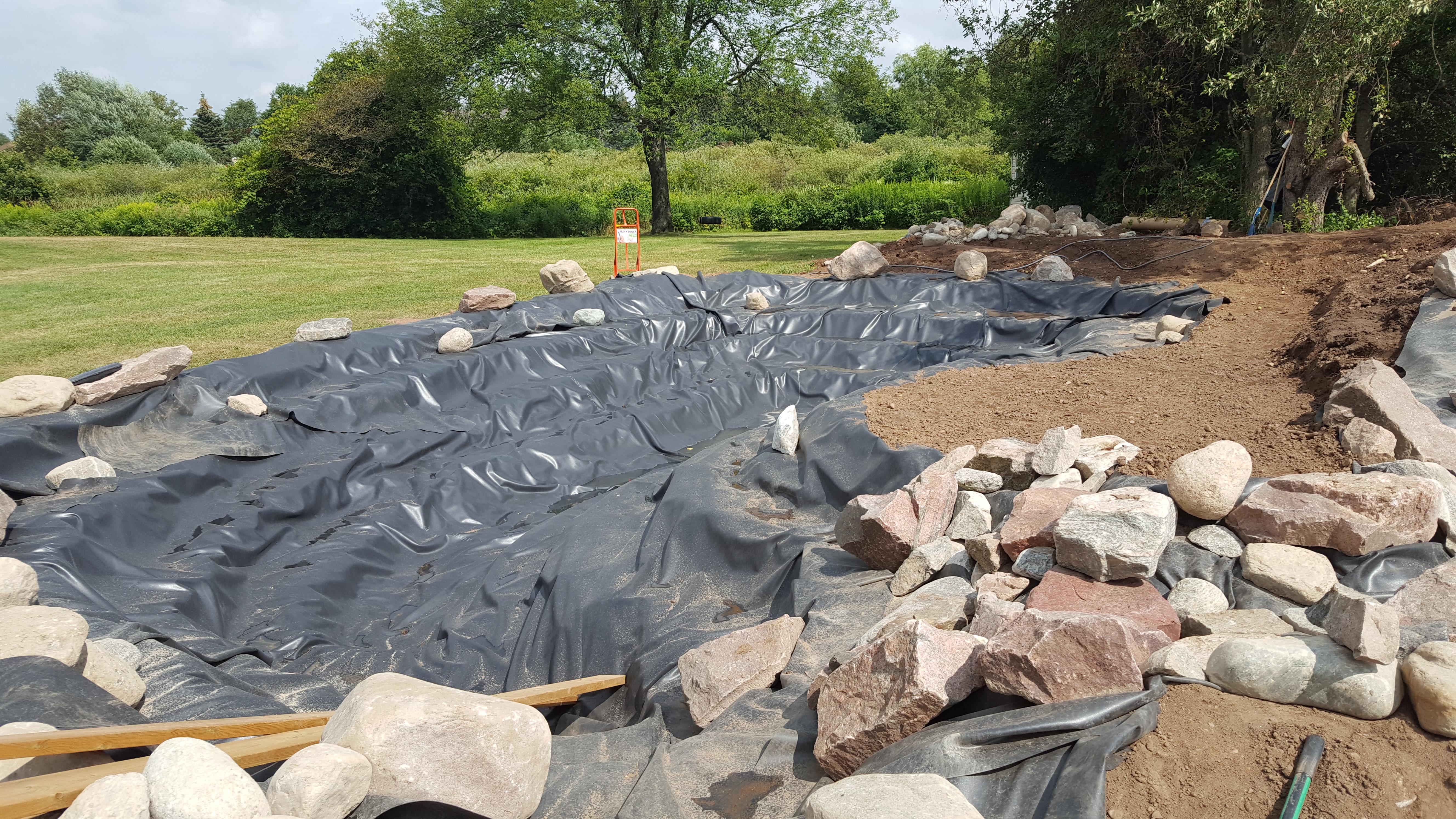 Swim Pond - Adding Boulders