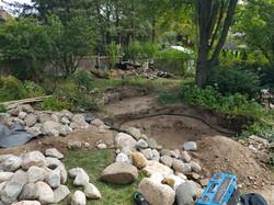 Before we added pond liner