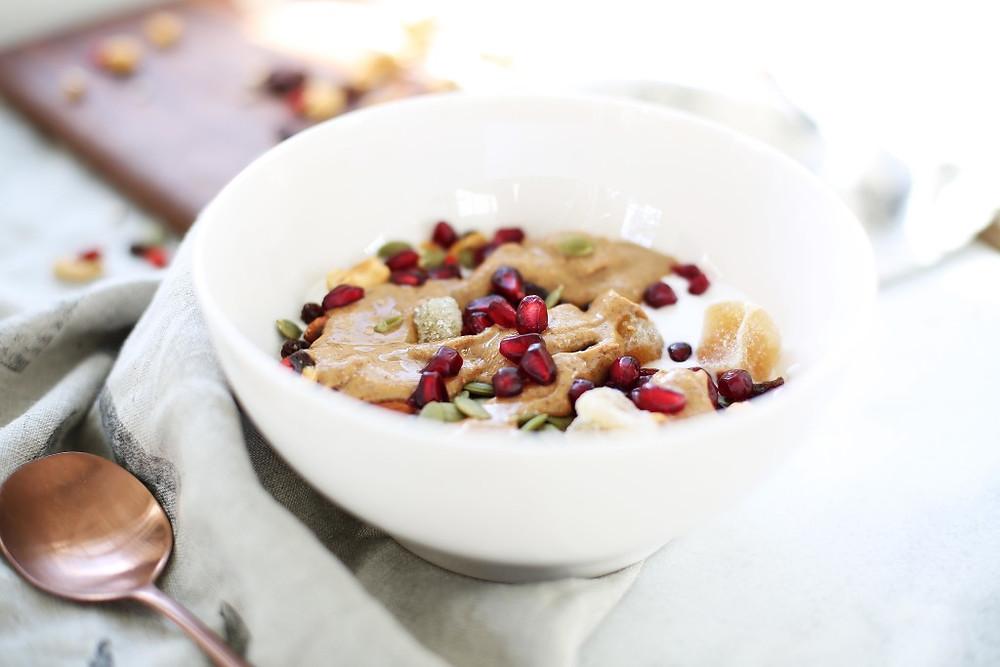 Greek Yogurt Breakfast Bowl with Almond Butter