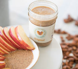 almond butter and organic apples