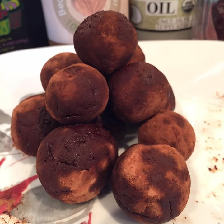 Chocolate almond butter truffle balls