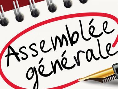 Assemblée Générale le samedi 18 septembre