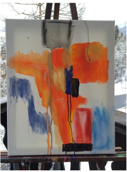 Farbiges Wasser - Oliver Johnson Leber
