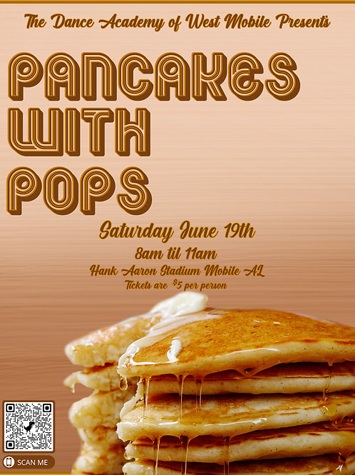 """Ticket for """"Pancakes with Pops"""""""