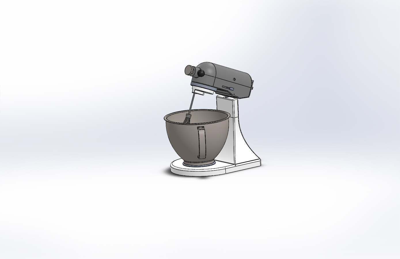 Cake Mixer CAD Model