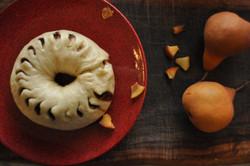 עוגת באו עם אגסים ובננות