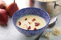 מרק כרובית עם אנסים אדומים