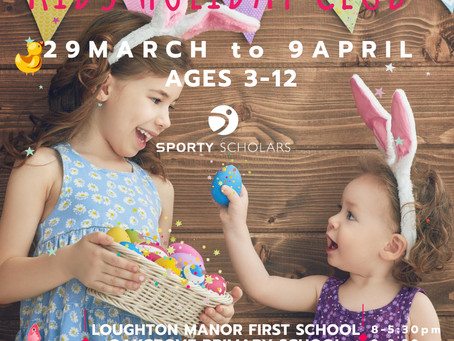 Easter Holiday Camps Now Available! Ages 3-12