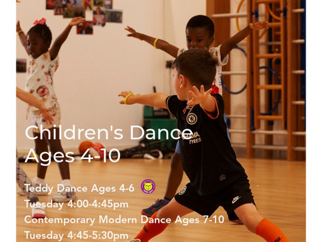 Children's Dance Classes Ages 4-10 Now Available