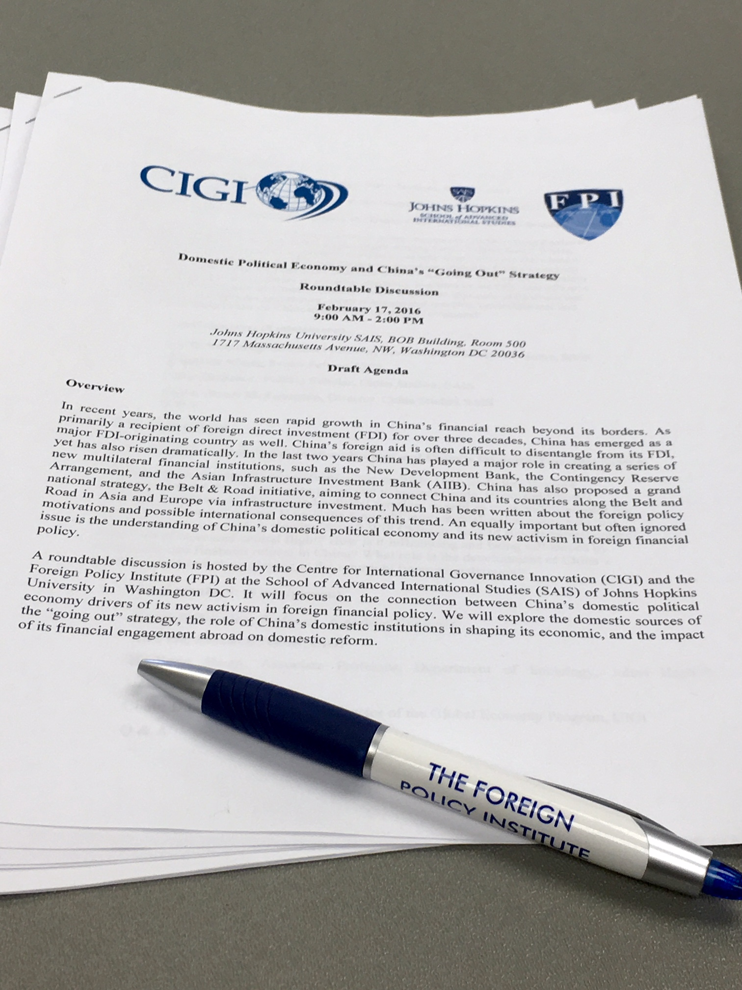 CIGI and FPI Roundtable