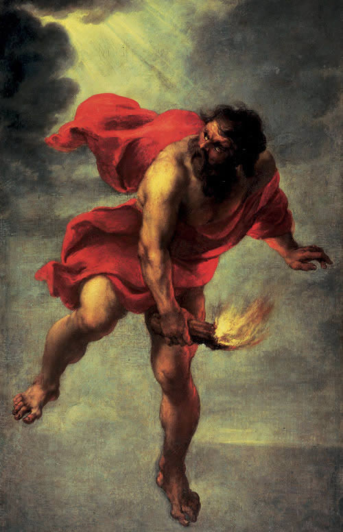 Image: Jan Cossiers, Prometheus Carrying Fire.