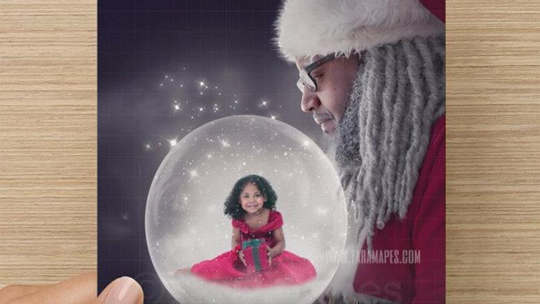 Dreezy Claus Snow Globe Card