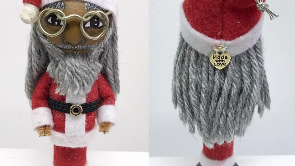 Dreezy Claus Handmade Ornament (Collectible) by Equipoise Art of Life