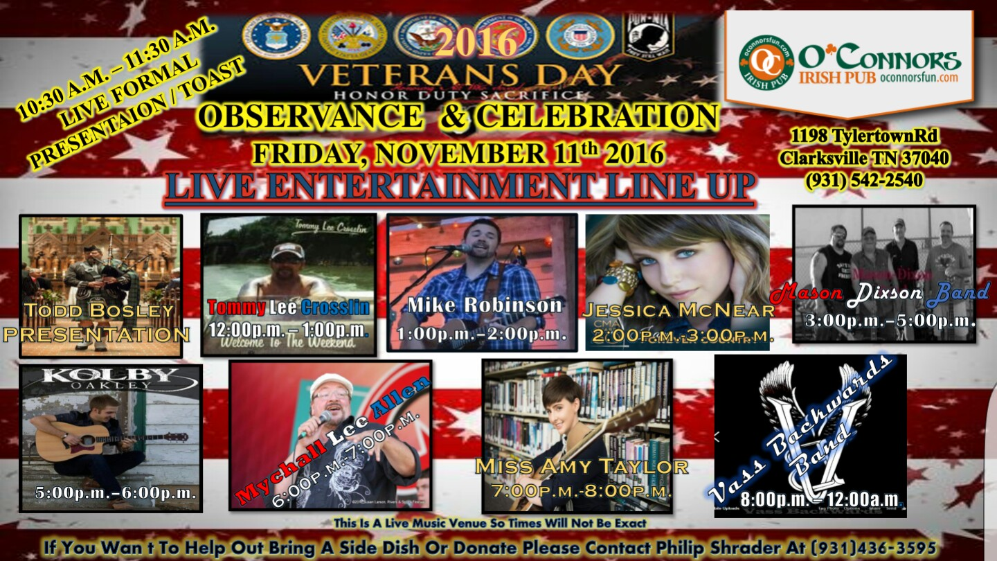 Veterans Day Celebration Poster
