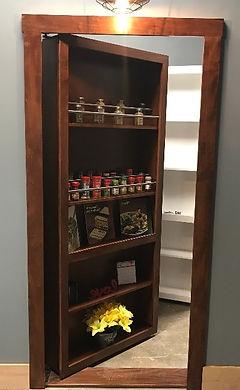 hidden spice rack door