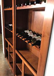 Double wine bottle door