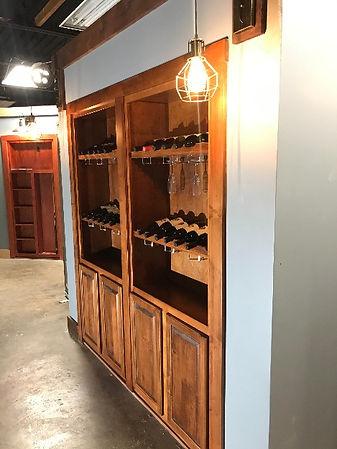 Hidden wine glass door