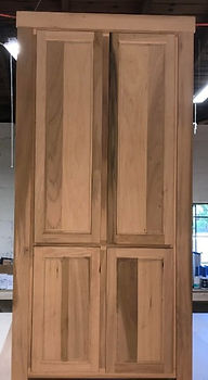 Hidden door with cabinet doors