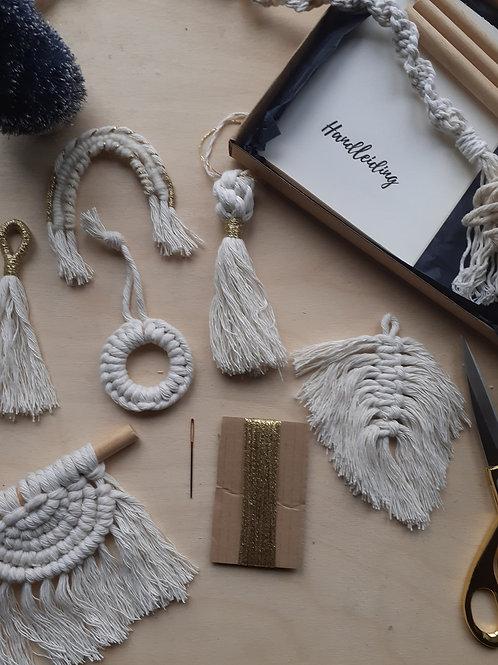 DIY pakket - Macramé kerstdeco