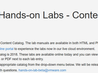 Você já ouviu falar no VMware Hands-on Labs?