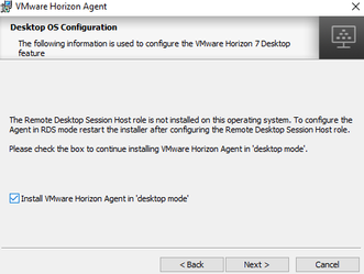 Instalando o recurso de Remote Desktop Services - Session Host - VMware Horizon Agent