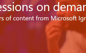 Sessões do Microsoft Ignite já disponíveis!