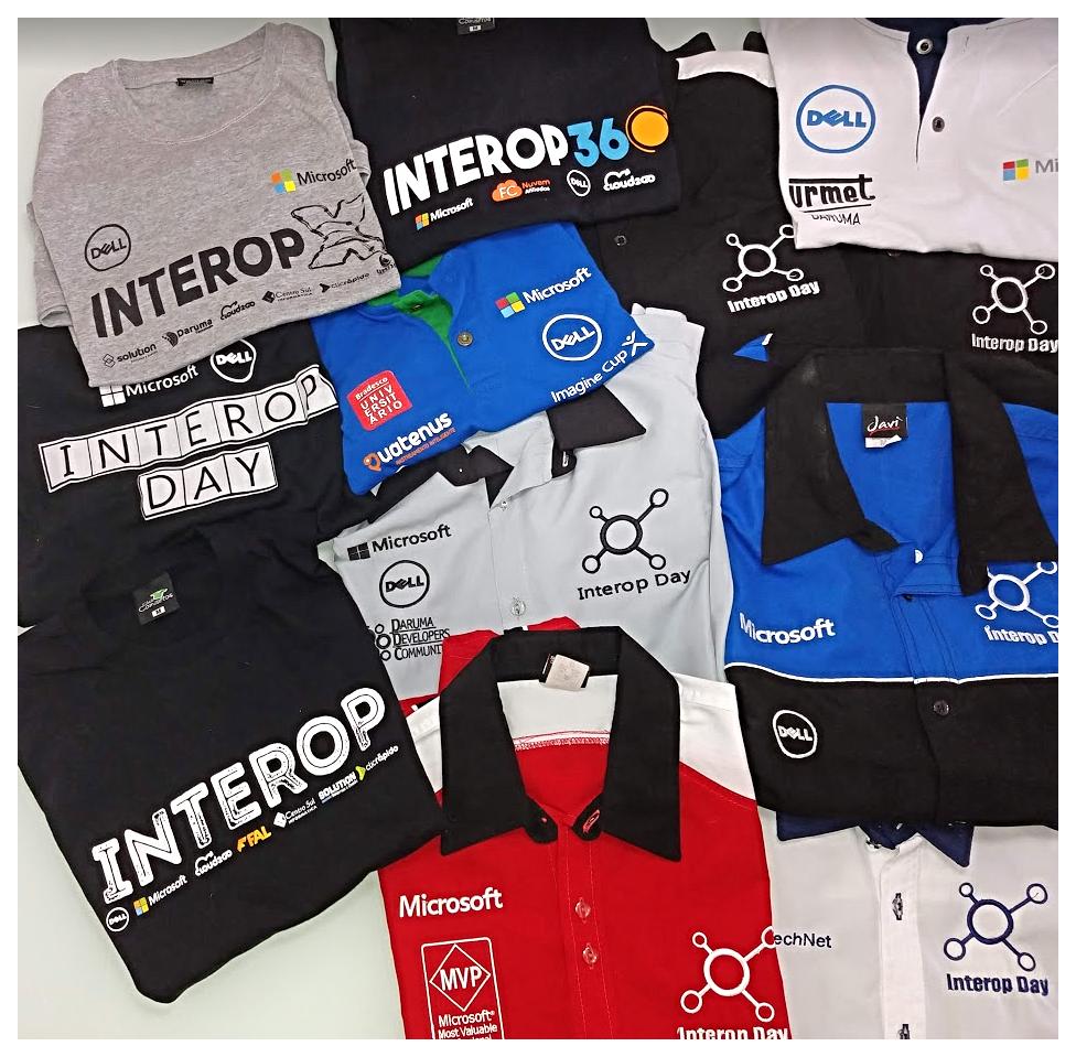 Camisas de edições do Interop