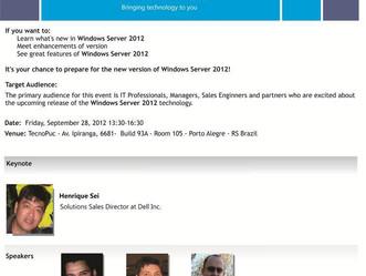 WINDOWS SERVER 2012 COMMUNITY ROADSHOW - PORTO ALEGRE