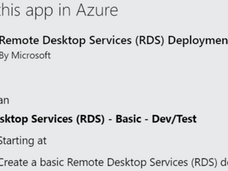 TEMPLATES DO REMOTE DESKTOP SERVICES DISPONÍVEIS NO AZURE MARKETPLACE